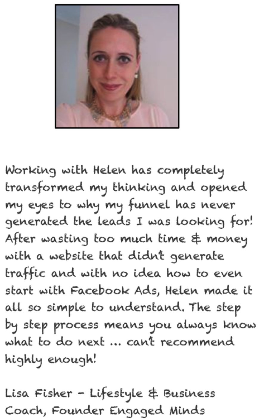 Lisa Fisher Business Coach Testimonial